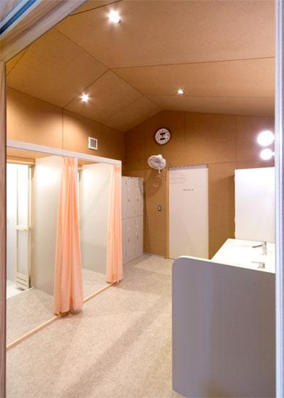 更衣室及びシャワールーム